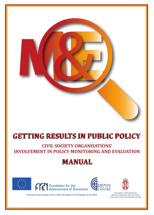 Manual for Civil Society Organisations' Involvement in Policy M&E